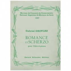 Grovlez, Gab Romance et Scherzo (Flauta y Piano)