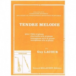 Lacour. Tendre Melodie (Flauta y Piano)