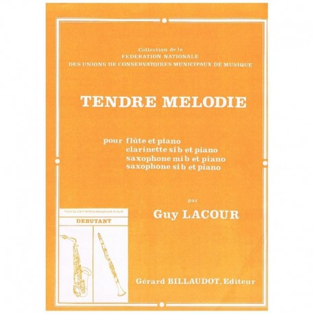 Lacour, Guy Tendre Melodie (Flauta y Piano)