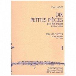 Moyse. Diez Pequeñas Piezas Vol.1 (Flauta y Piano)