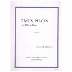 Smirnova. Tres Piezas (Flauta y Piano)
