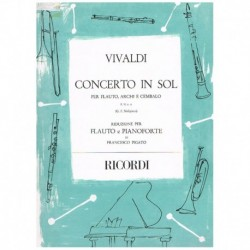 Vivaldi, Ant Concierto en Sol F.VI Nº6 (Flauta y Piano)