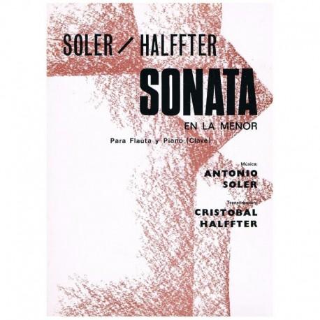 Soler/Halffter. Sonata en La menor (Flauta y Piano)