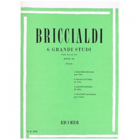 Briccialdi. 6 Grandes Estudios Op.31 (Flauta)