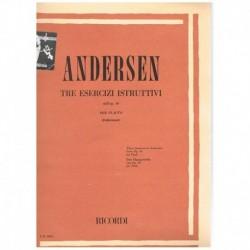 Andersen, Jo Tres Ejercicios Instructivos Op.30 (Flauta)