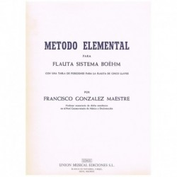 Gonzalez Mae Metodo Elemental para Flauta Sistema Boëhm
