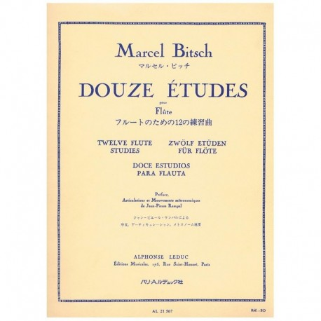 Bitsch. Doce Estudios para Flauta
