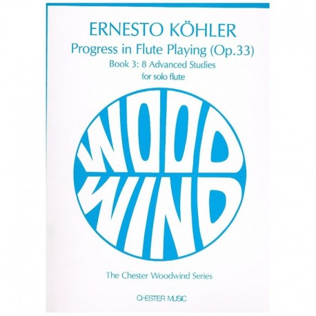 Kohler, Erne 8 Estudios Avanzados Op.33 (Flauta)