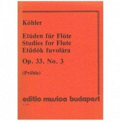 Kohler. Estudios Op.33 Nº3...