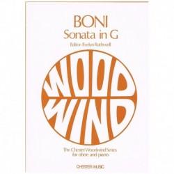 Boni. Sonata en Sol (Oboe y Piano)