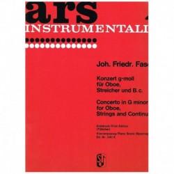 Fasch. Concierto Sol menor (Oboe y Piano)