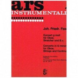 Fasch, J.F. Concierto Sol menor (Oboe y Piano)
