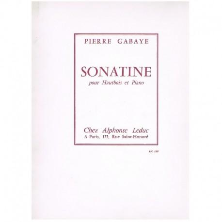 Gabaye, Pier Sonatina para Oboe y Piano