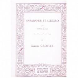 Grovlez, Gab Sarabande et Allegro (Oboe y Piano)