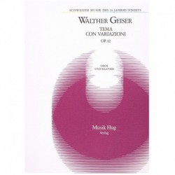 Geiser. Tema con Variaciones Op.42 (Oboe y Piano)