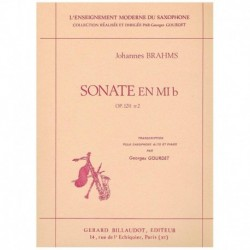 Brahms, Joha Sonata en Mib Op.120 Nº2 (Saxofon Alto y Piano)