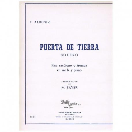 Albeniz. Puerta de Tierra (Bolero) (Saxofon Alto y Piano)