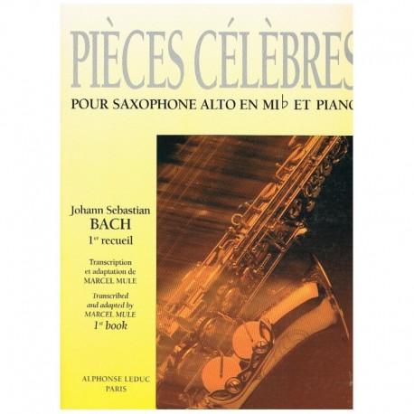 Bach. Piezas Celebres Vol.1 (Saxofon Alto y Piano)