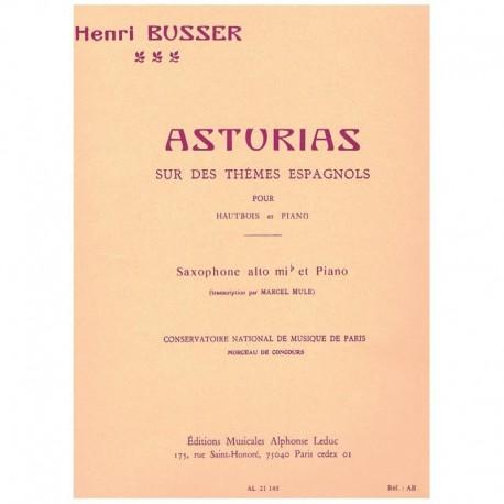 Busser. Asturias (Saxofon Alto y Piano)