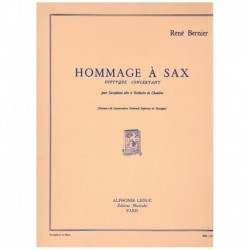 Bernier, Ren Hommage a Sax. Diptyque Concertant (Saxofon Alto y Piano)