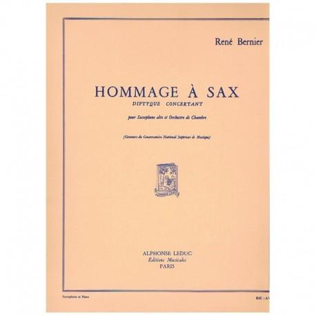 Bernier. Hommage a Sax. Diptyque Concertant (Saxofon Alto y Piano)
