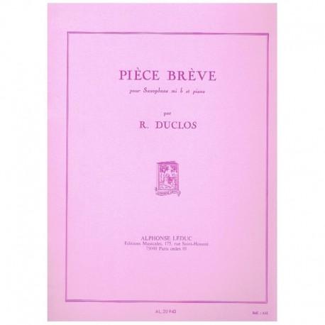 Duclos, Rene Piece Breve (Saxofon Alto y Piano)