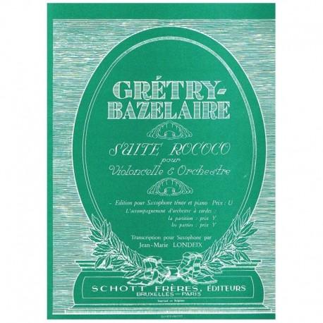 Gretry/Bazel Suite Rococo (Saxofon Tenor y Piano)