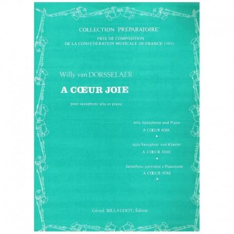 Dorsselaer, A Coeur Joie (Saxofon Alto y Piano)