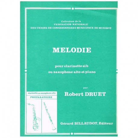 Druet. Melodie (Saxofon Alto y Piano)