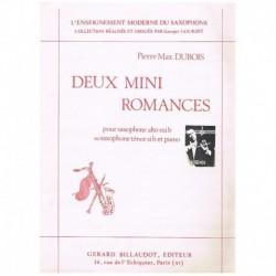 Dubois, Pier Deux Mini Romances (Saxofon Alto/Tenor y Piano)