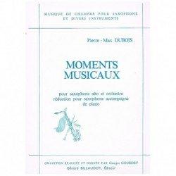 Dubois, Pier Moments Musicaux (Saxofon Alto y Piano)