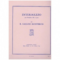 Gallois Montbrun. Intermezzo (Saxofon Alto y Piano)