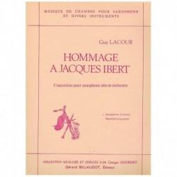 Lacour, Guy Homenaje A Jacques Ibert (Saxofon Alto y Piano)
