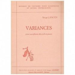 Lancen. Variances (Saxofon Alto y Piano)