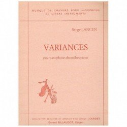 Lancen, Serg Variances (Saxofon Alto y Piano)