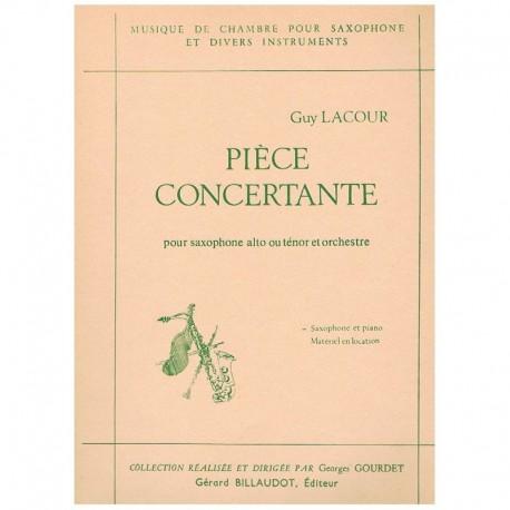 Lacour, Guy Pieza Concertante (Saxofon Alto/Tenor y Piano)