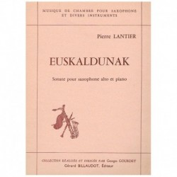 Lantier. Euskaldunak (Saxofon Alto y Piano)