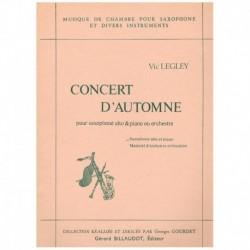 Legley, Vic Concierto de Otoño (Saxofon Alto y Piano)