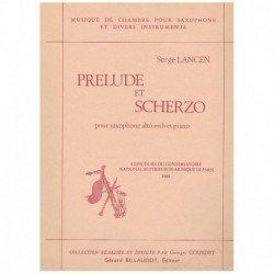 Lancen, Serg Preludio y Scherzo (Saxofon Alto y Piano)