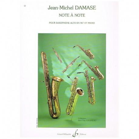 Damase. Note a Note (Saxofon Alto y Piano)