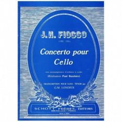 Fiocco, J. H Concerto pour Cello (Trans. Saxofon Tenor y Piano)