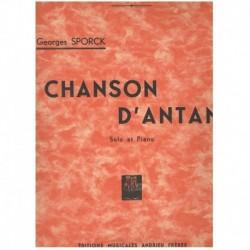 Sporck. Chanson D'Antan (Saxofon Alto y Piano)