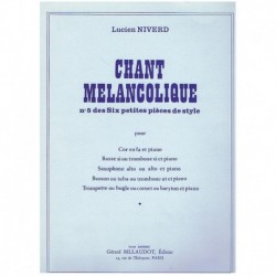 Niverd. Chant Melancolique...
