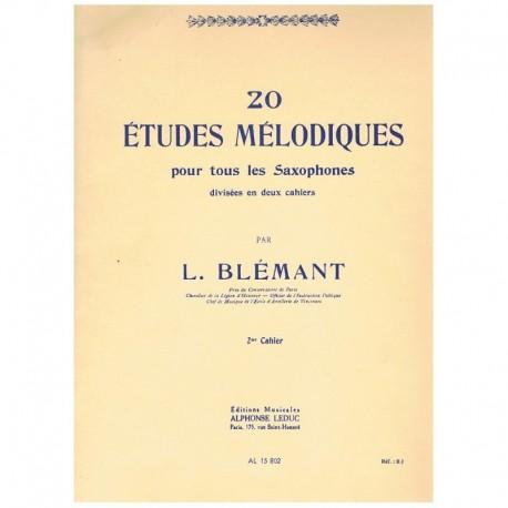 Blemant. 20 Estudios Melodicos para Saxofon Vol.2