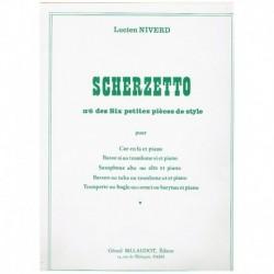 "Niverd. Scherzetto (Nº6 de Seis Pequeñas Piezas de Estilo) (Trombon y P"""