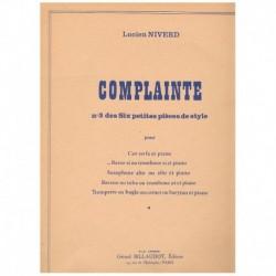 """Niverd, Luci Complainte (Nº3 de Seis Pequeñas Piezas de Estilo) (Trombon y"""""""""""