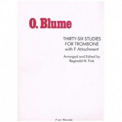 Blume. 36 Estudios para Trombon