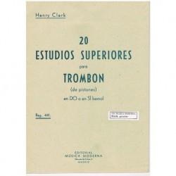 Clark, Henry 20 Estudios Superiores para Trombon de Pistones