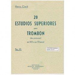 Clark. 20 Estudios Superiores para Trombon de Pistones