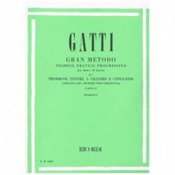 Gatti. Gran Metodo Teorico Practico Progresivo Vol.2 (Trombon)